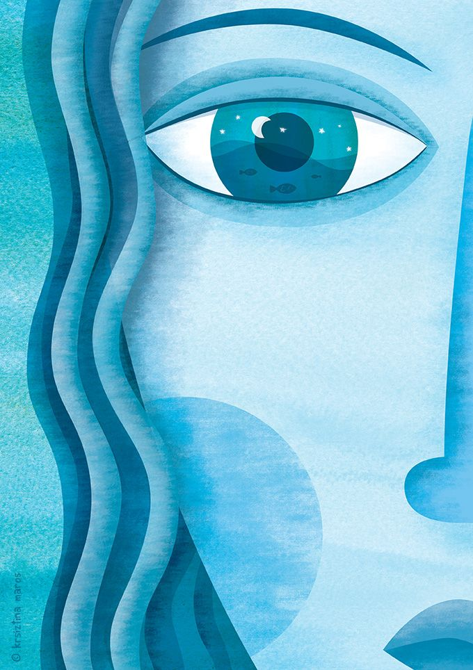 'As blue as your eyes' personal work (Krisztina Maros)