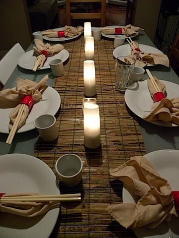 Asian inspired dinner party