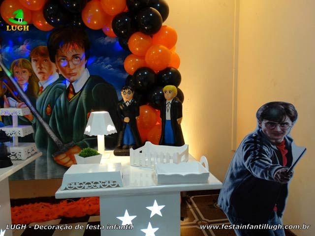 Decoração de festa Harry Potter provençal simples - detalhes da mesa temática imagem 02