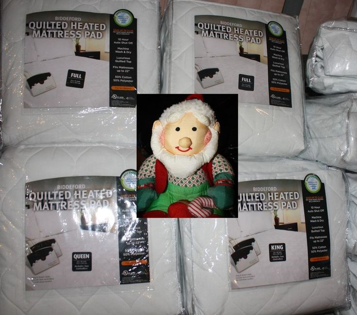 new biddeford heated quilted mattress pad size - Heated Mattress Pad King