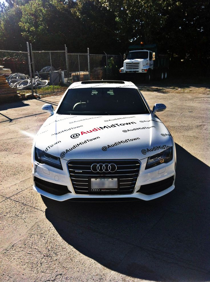 Midtown Audi just wrapped up a beautiful A7 in preparation for their attendance at the Toronto International Film Festival. Graphics manufactured and installed by Side Effects Graphics.