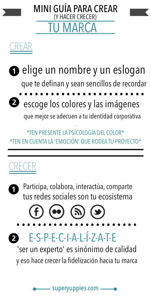 Miniguía para tu marca personal #infografia #marketing #socialmedia por @alfredovela