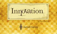 Innovation | Board Game | BoardGameGeek This game by Carl Chudyk is a journey through innovations from the stone age through modern times. Each player builds a civilization based on various technologies, ideas, and cultural advancements, all represented by cards. Each of these cards has a unique power which will allow further advancement, point scoring, or even attacking other civilizations. Be careful though, as other civilizations may be able to benefit from your ideas as well!