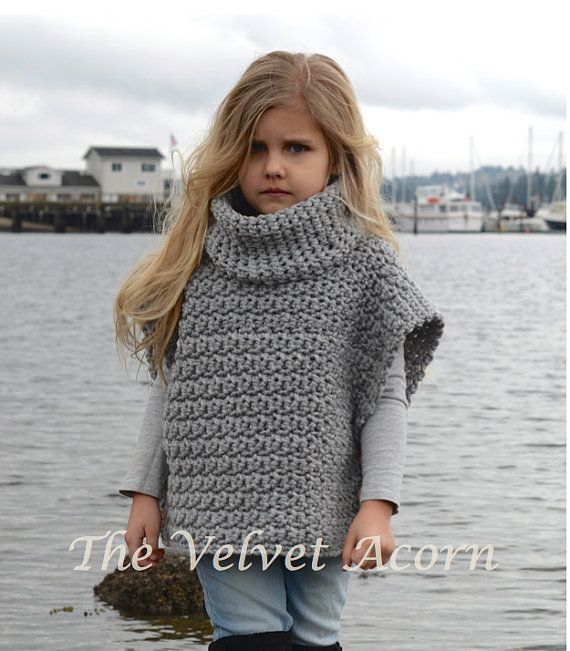 This listing is a PDF PATTERN ONLY for the Aura Pullover.  This cape is handcrafted and designed with comfort and warmth in mind... Perfect for layering through all the seasons...  This cape makes a wonderful gift and of course also something great for you to wrap up in too.  All patterns written in standard US terms.  *2, 3/4, 5/7, 8/10, 11/13, 14/16, adult S/M, adult L/XL sizes *Any bulky weight yarn  Approx. chest measurements for the sizes: 2 (25 inch chest circumference) 3/4 (26.5 inch…
