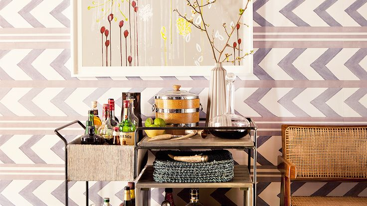5 Life-Changing Bar Essentials You Didn't Know You Needed #livinginstyleS'More Bar, S'Mores Bar, Didn T, Purple Chevron, Bar Essential, Bar Accessories, Bar Carts, Life Change Bar, Home Bars