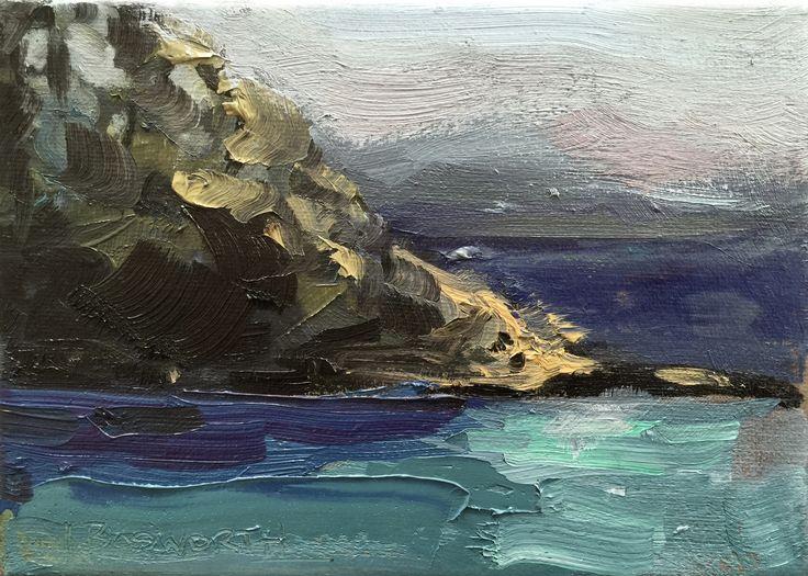 Blackmans Bay, Oil on canvas, 17.5 x 13cm