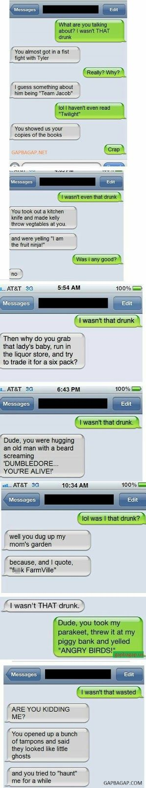 Top 6 Hilarious Text Messages About Drunks