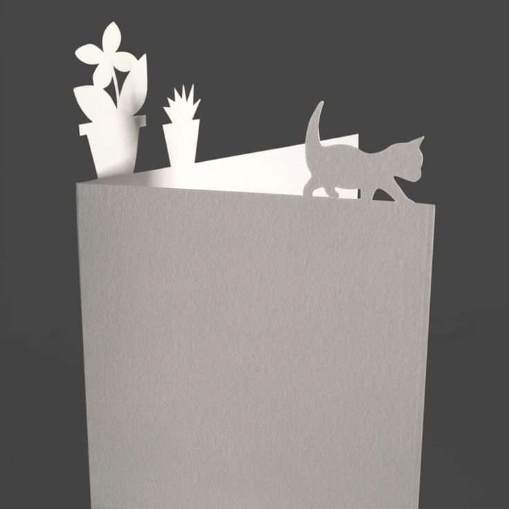 Balancing Cat Card. £3.00, via Etsy.