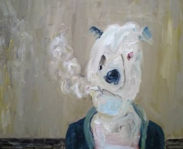 "Saatchi Art Artist Fabienne Jenny Jacquet; Painting, ""Bad Dog"" #art:"