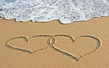 Beaches Drawn Hearts Ocean Sand Wallpaper | We Heart It