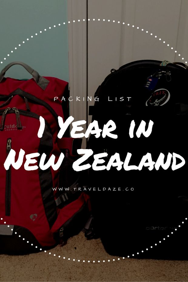 Packing List: 1 Year in New Zealand