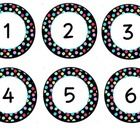 Cute polka dot numbers for labeling items in your classroom. They include numbers 1-40-free
