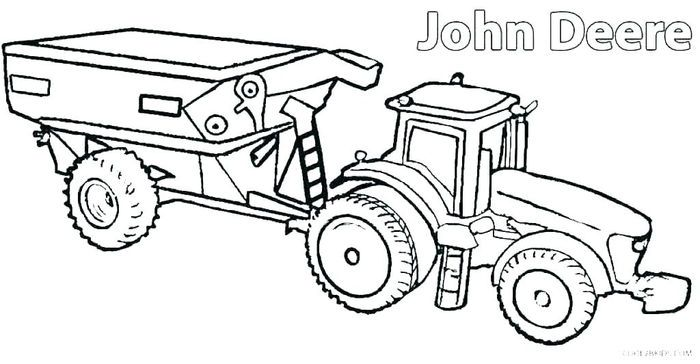 John Deer Coloring Pages Deer Coloring Pages Tractor Coloring Pages Truck Coloring Pages