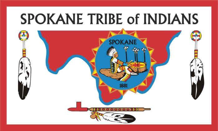 AMERICAN INDIAN TRIBAL FLAGS - Spokane - Sioux