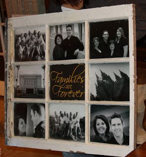 Vintage Window Picture Frame-Family Photos- have the window,  now I just need to paint it & find pictures!  :)
