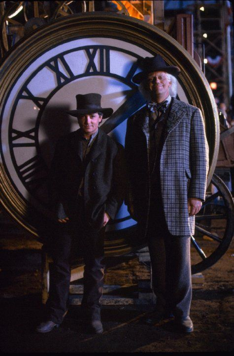 Michael J. Fox and Christopher Lloyd in Back to the Future Part III (1990)