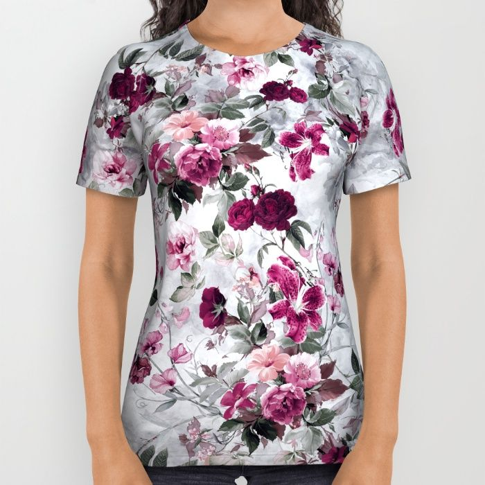 Buy Rose Red All Over Print Shirt by valentinasevza. #red #rose #flowers #tshirts #womens #society6