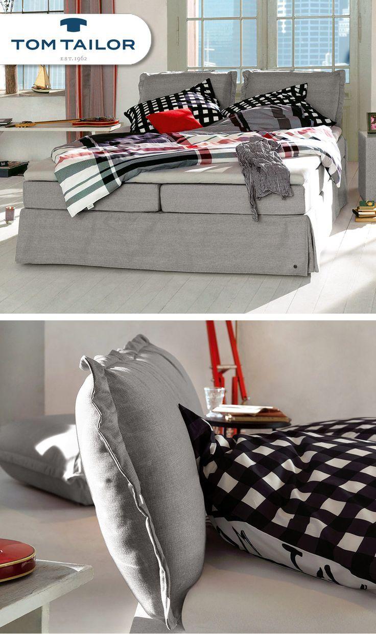 Gemütliches Boxspringbett In Sechs Verschiedenen Farben. Marke TOM TAILOR | Betten.de #boxspringbett