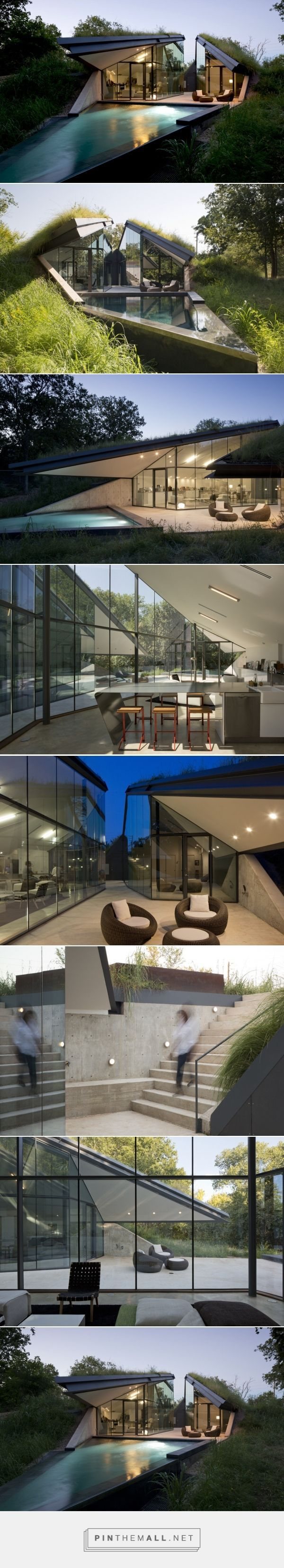 Edgeland House Built into a Hill by Bercy Chen Studio - Homeli ArchitectureNow10