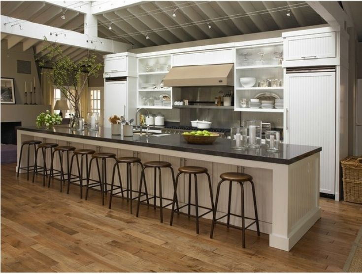 Creative Extra Long Kitchen Island Kitchen Island Decor Kitchen With Long Island Kitchen Layouts With Island