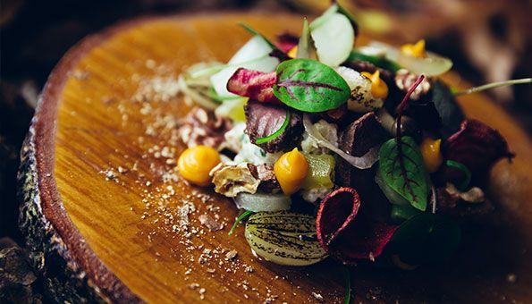 Navenant - Bourgondisch genieten :: Culinair :: Recepten :: Voorgerecht :: Waldorfsalade met hazenrugfilet