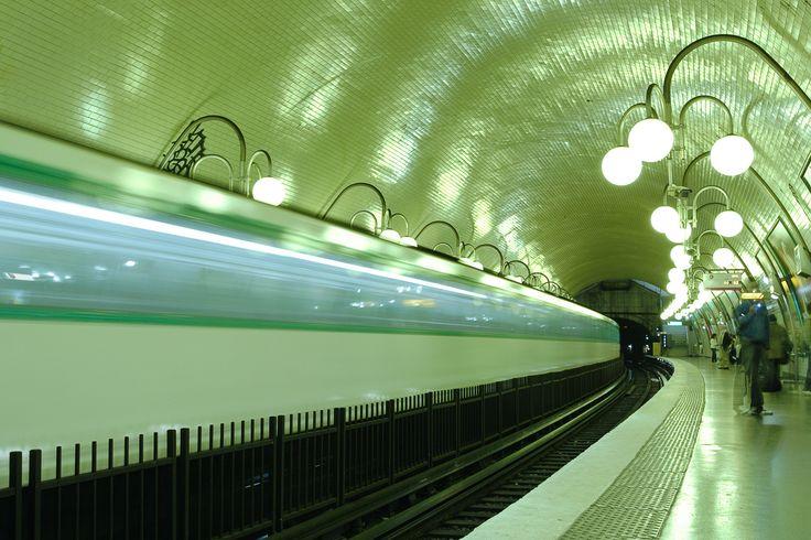 The #Paris metro. http://www.nyhabitat.com/blog/2014/06/30/paris-basic-tips-etiquette-visitors/