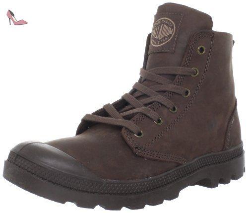 Palladium Pampa Hi Leather, Baskets mode homme - Marron foncé (Chocolate),  45