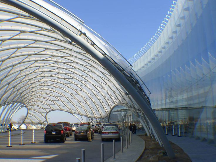 Entryway canopy utilizing ETFE foil pillows for the Yonkers Casino, Yonkers, N.Y. See more grand entrances: http://ow.ly/ok1W2   Photo: Nicholas Goldsmith Design: FTL Design Engineering Studio