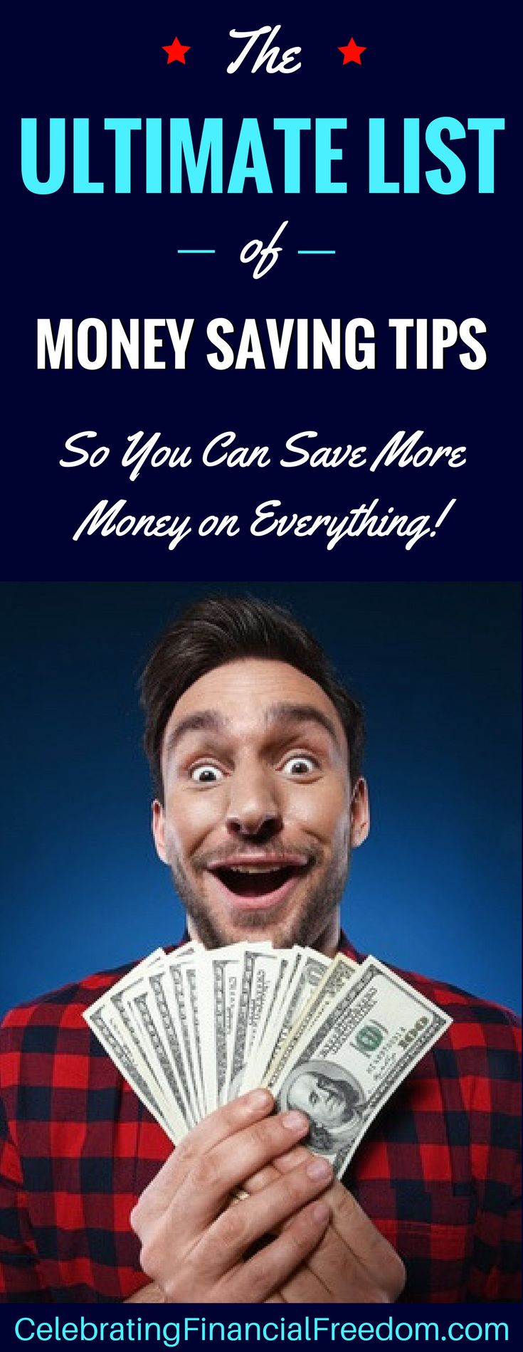59 of my best money saving tips to help you spend less than you make, put more money in your pocket, and save money for the future!  The ultimate list for saving more money on everything!  http://www.cfinancialfreedom.com/list-money-saving-tips-save-more-money  #savemoney #tips #list #money #finances