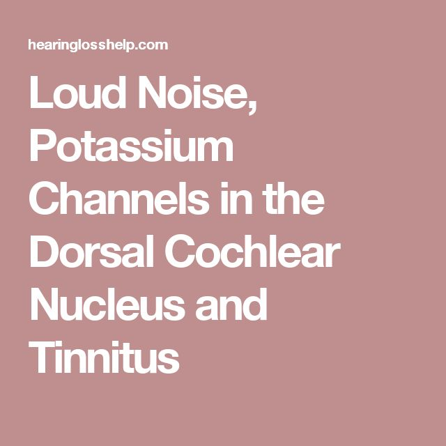 Loud Noise, Potassium Channels in the Dorsal Cochlear Nucleus and Tinnitus