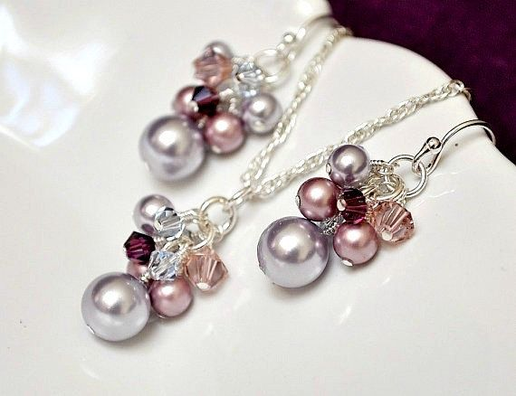 http://www.etsy.com/listing/78291154/purple-bridesmaid-jewelry-set-pearl-and