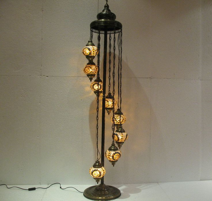 8 ball mosaic glass floor lamp lampe mosaique candle. Black Bedroom Furniture Sets. Home Design Ideas