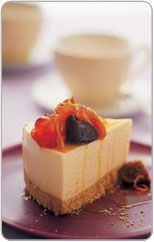 Ricotta torte with fruit compote