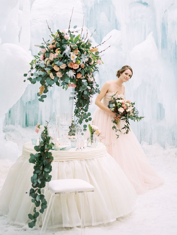 winter wedding inspiration - photo by Rodeo and Co Photography http://ruffledblog.com/ice-castle-wedding-inspiration