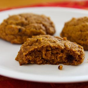 Virtually Fat Free Vegan Pumpkin Cookies. Made with oats, white wheat flour, agave syrup & tofu. Includes icing recipe & variation with 1/3 cup earth balance.