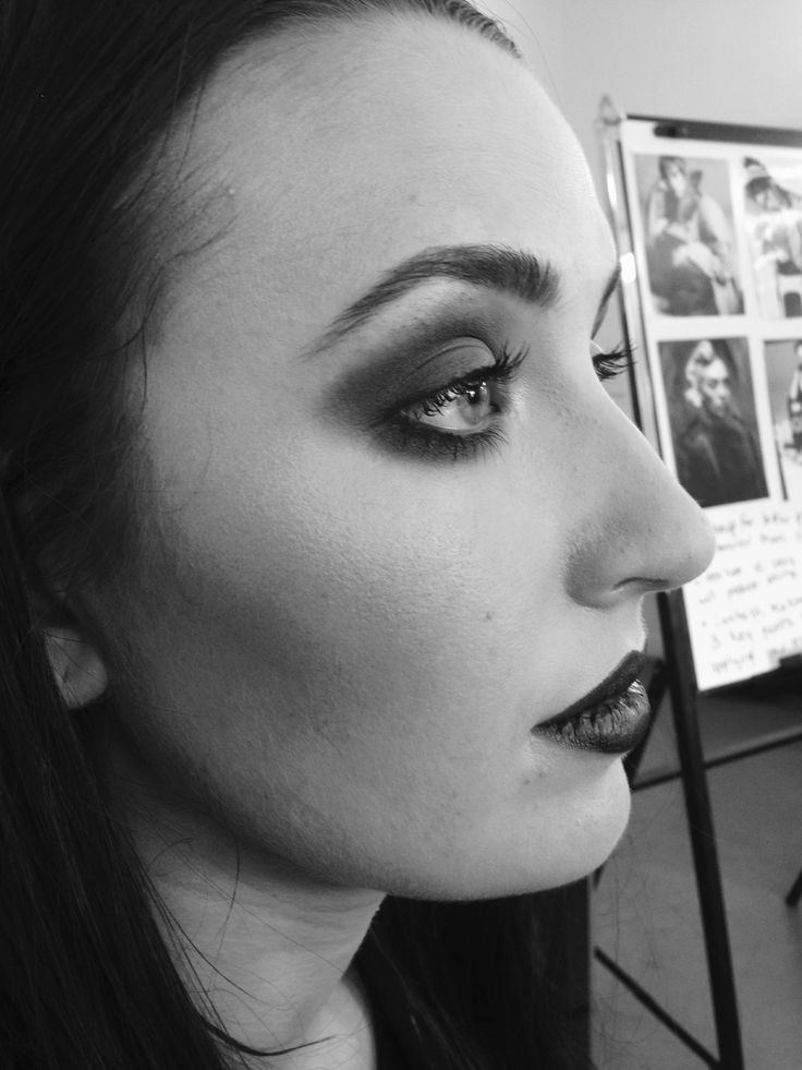 B&W photographic makeup by Janey Umback