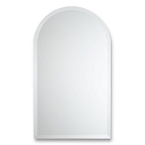 Frameless Beveled Wall Mirror   Arched Top Rectangle   Bathroom, Bedroom, Accent Mirror #Frameless #Beveled #Wall #Mirror #Arched #Rectangle #Bathroom, #Bedroom, #Accent