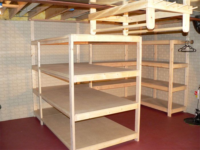 New Basement Storage Shelf Plans