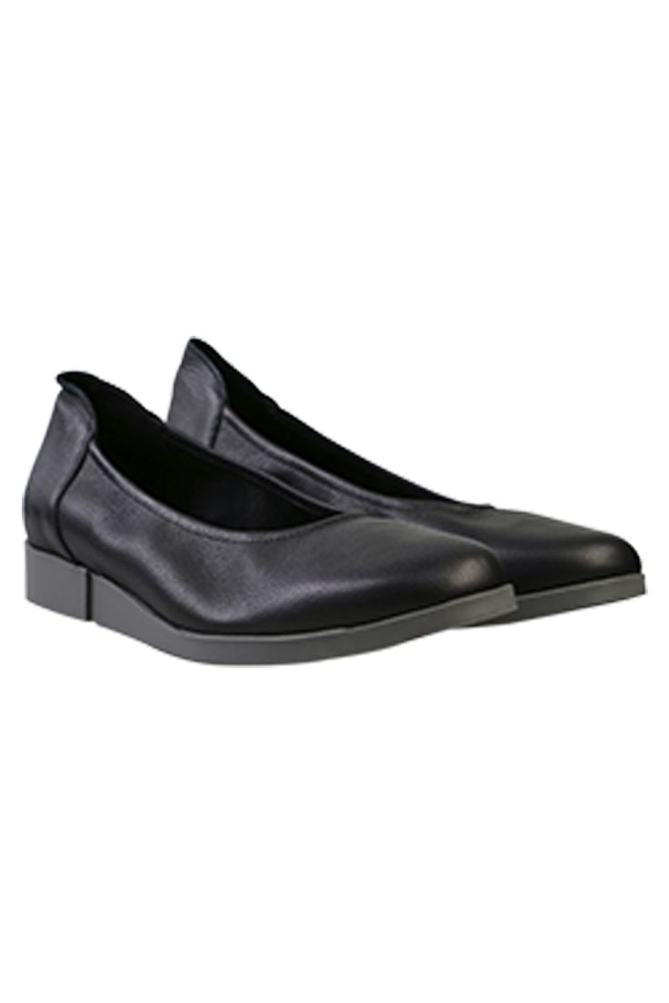 Arche - The Coeze Flat In Black Leather