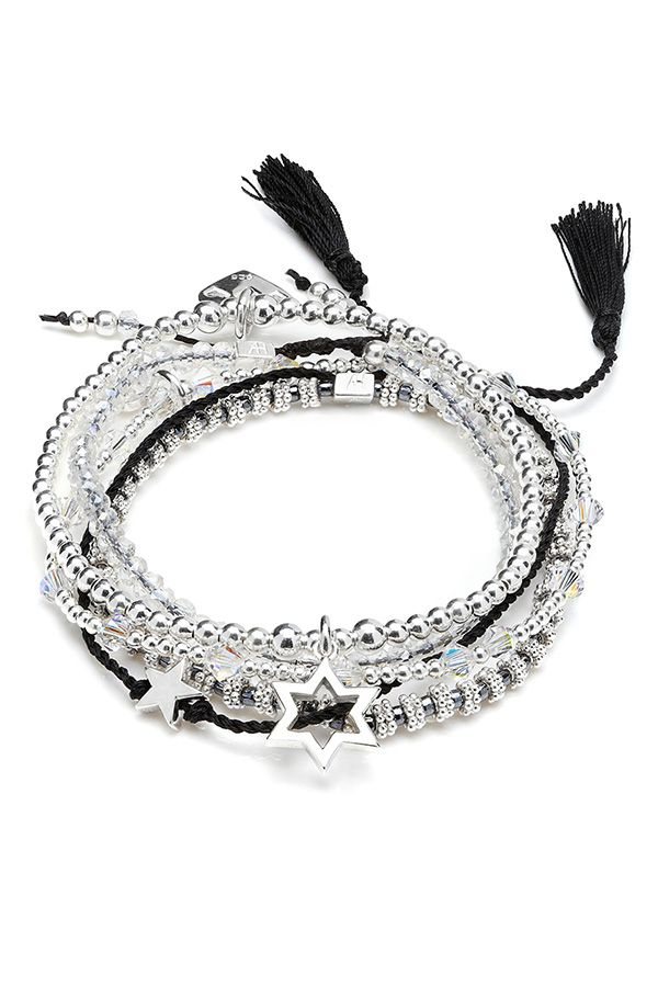 Women who wear black live colourful lives, this Zosma Bracelet Stack is the perfect stack to wear everyday day & night