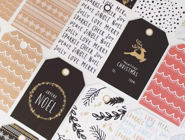 10 DIY & Printable Gift Tags   www.dawnnicoledesigns.com