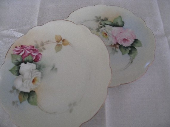 beautiful bone china dishes | antique Rosenthal Bavarian bone china dishes by paprikarose