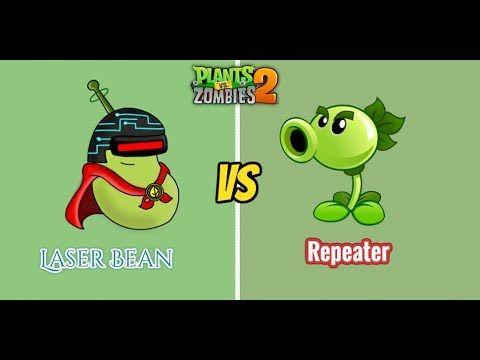 Plants vs Zombies 2  - LASER BEAN VS REPEATER