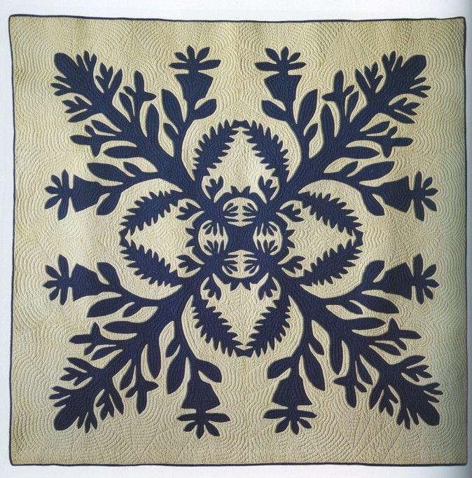 Hawaiian quilt, c. 1900, R. John Howe textiles