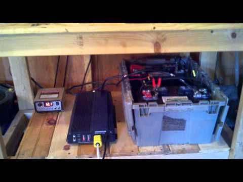 Solar Power setup for my shed, Harbor freight solar panels and inverter - YouTube
