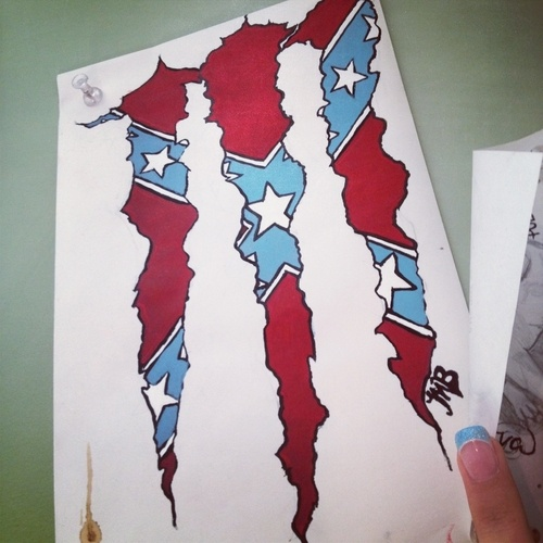 how to draw a rebel flag