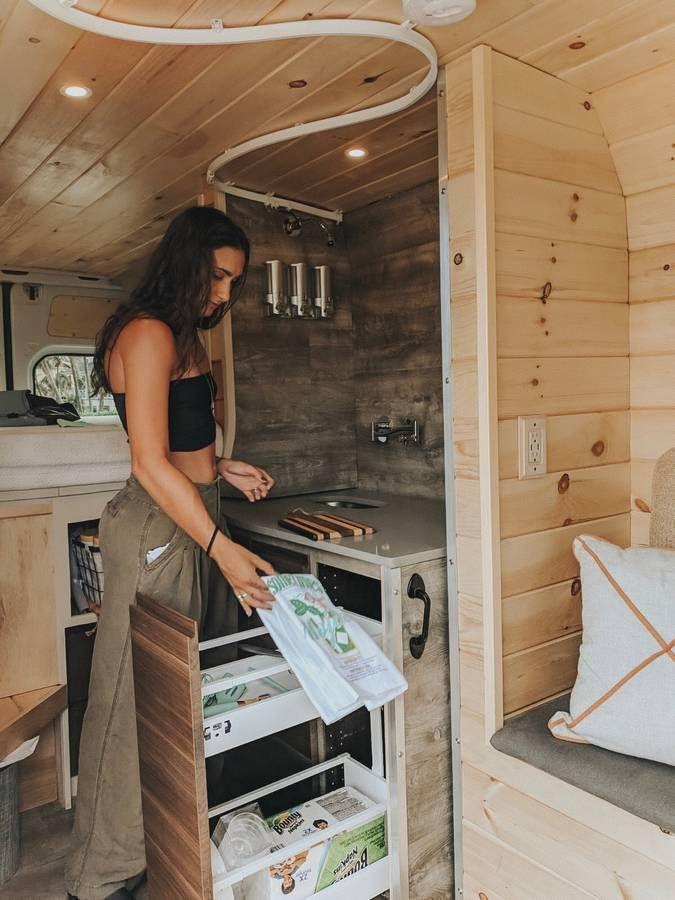 Kitchen On Wheels In Shower Stall Showerstalls Van Home