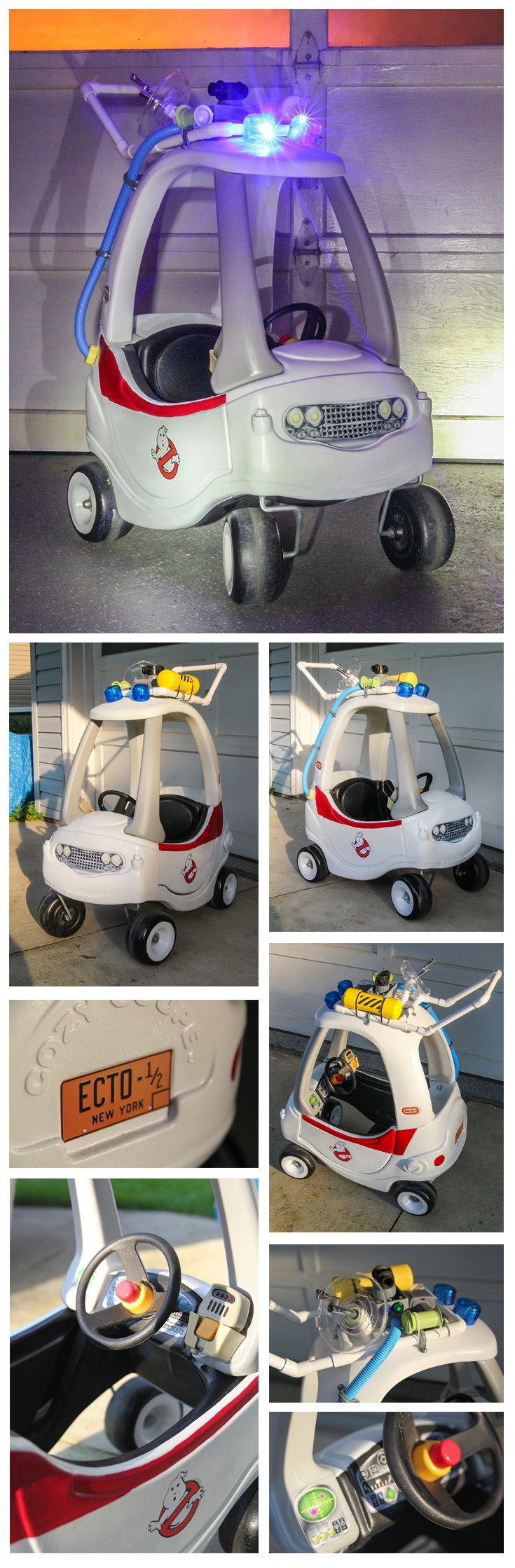 Custom made Ghostbusters Ecto-1/2 Cozy Coupe.                                                                                                                                                      More