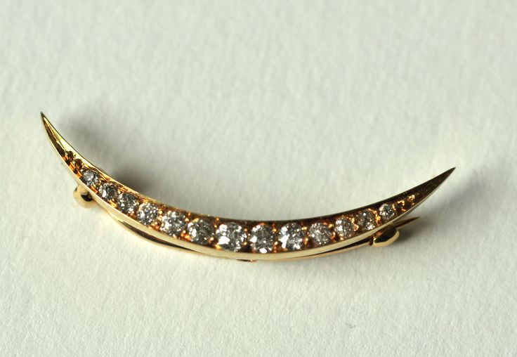 A Victorian Tiffany Diamond Cresent Brooch by mitaineshop on Etsy