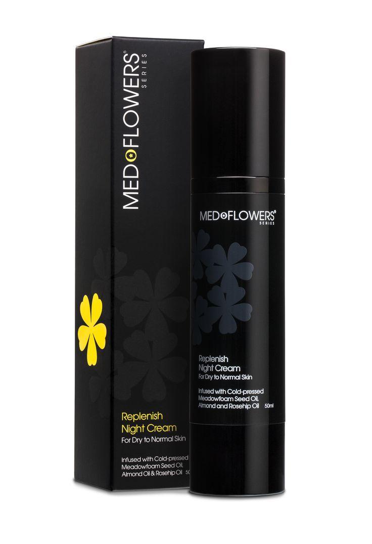 Medoflowers -- Replenish Night Cream (50ml) with sweet almond and rosehip oils